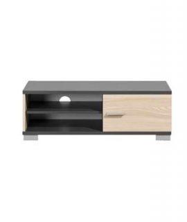 TV-meubel Boston – Grijs Met Houtkleur – 35x100x40 Cm