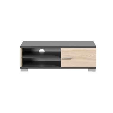 TV-meubel Boston - grijs met houtkleur - 35x100x40 cm