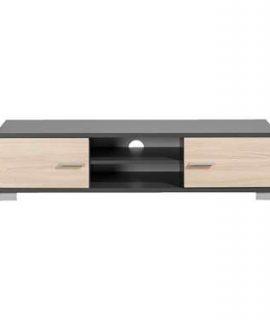 TV-meubel Boston – Grijs Met Houtkleur – 35x140x40 Cm