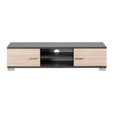 TV-meubel Boston - grijs met houtkleur - 35x140x40 cm