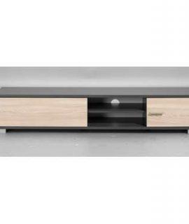 TV-meubel Boston – Grijs Met Houtkleur – 35x180x40 Cm