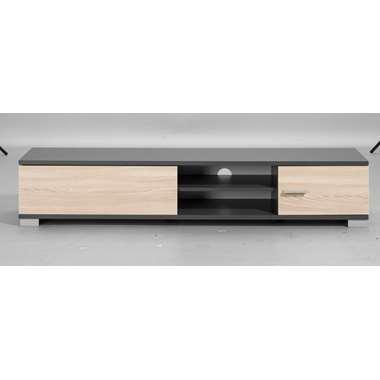 TV-meubel Boston - grijs met houtkleur - 35x180x40 cm