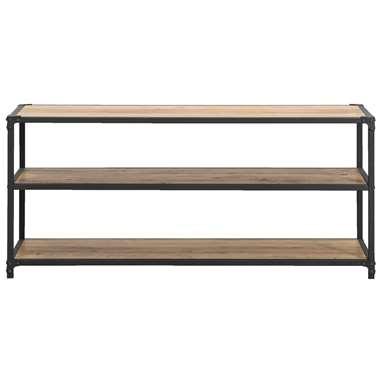 TV-meubel Lennox - bruin/zwart - 58x120x39