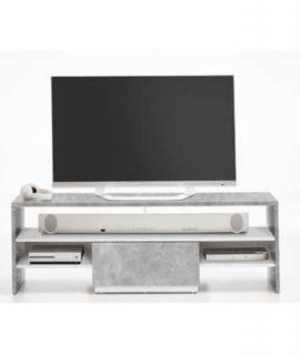 TV-meubel Vista – Betonkleur/wit – 150x50x40 Cm