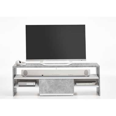 TV-meubel Vista - betonkleur/wit - 150x50x40 cm