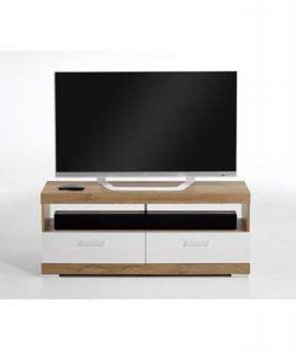 TV-Meubel Bristol – Oud Eikenkleur/wit Edelglans – 120x50x35 Cm