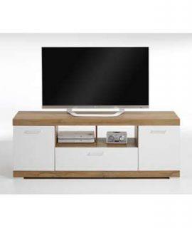 TV-Meubel Bristol – Oud Eikenkleur/wit Edelglans – 160x59x42 Cm