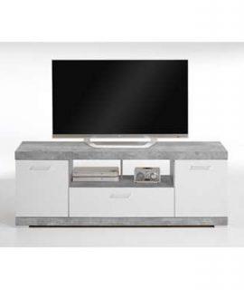 TV-Meubel Bristol – Betonkleur/wit Edelglans – 160x59x42 Cm