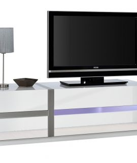 Tv Meubel Chris 150 Cm Breed – Hoogglans Wit Met LED