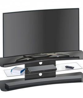 Glazen Tv Meubel Lunox – Zwart