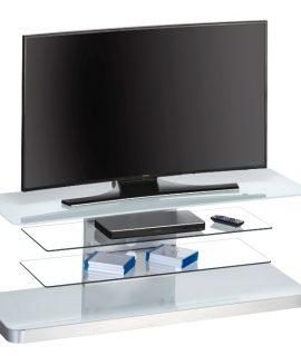 Glazen Tv Meubel Menno – Wit