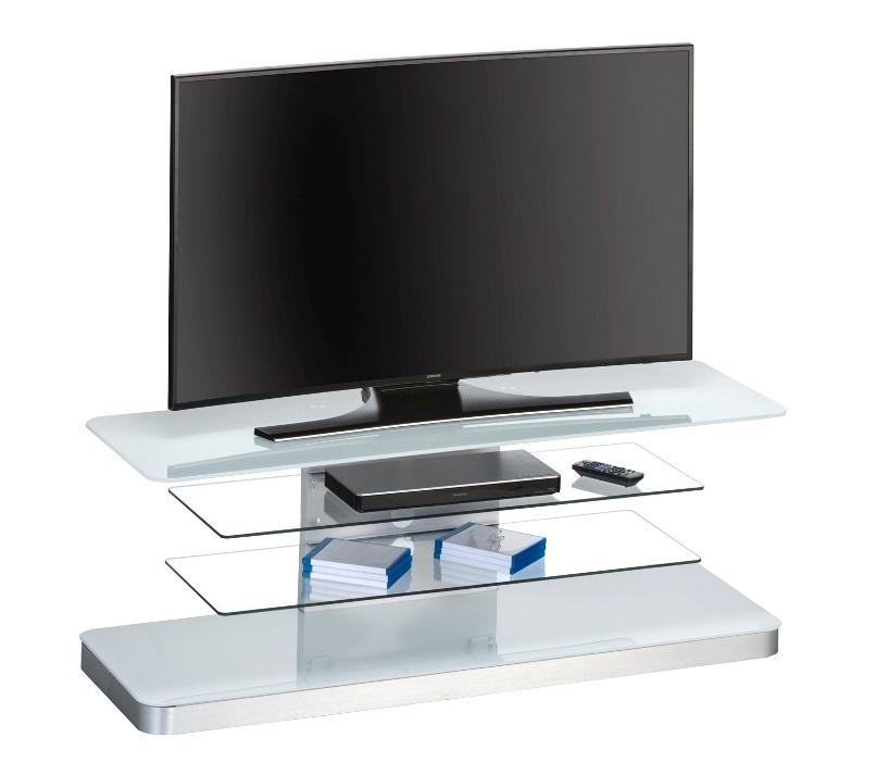 Glazen Tv Meubel Met Kabelgoot.Glazen Tv Meubel Menno Wit