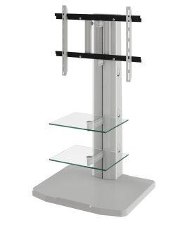 Tv Meubel Alladyn – Zilver Met Helder Glas