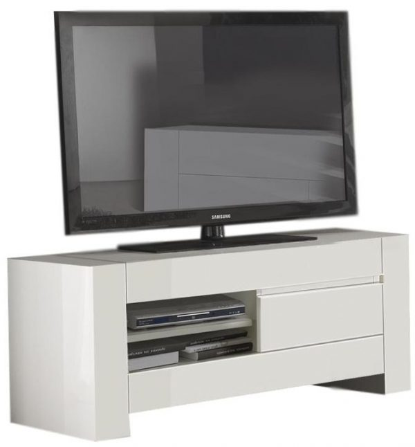 Tv Meubel Bianca 150 cm breed - Hoogglans wit
