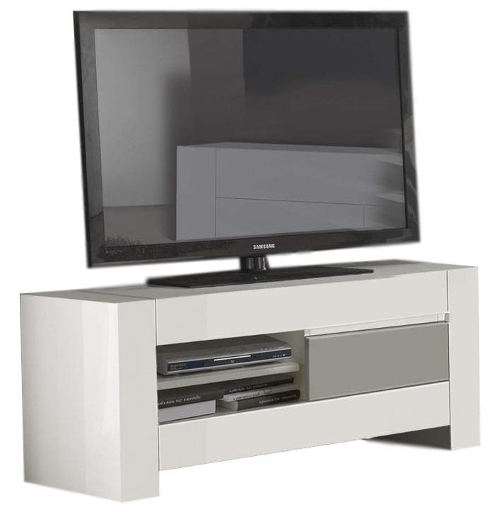 Tv Meubel 150 Cm.Tv Meubel Bianca 150 Cm Breed Hoogglans Wit Met Grijs