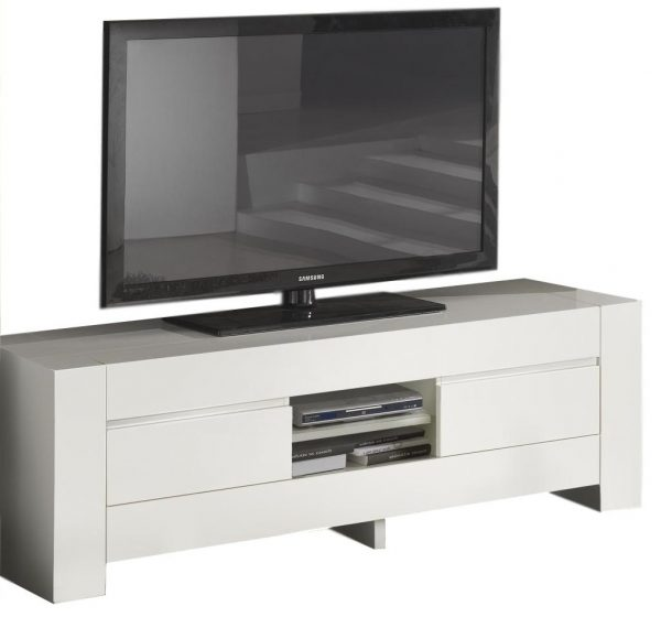 Tv Meubel Bianca 180 cm breed - Hoogglans wit