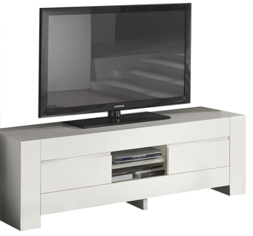 Tv Meubel Bianca 180 Cm Breed Hoogglans Wit