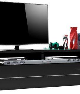 TV Meubel Bump 150 Cm Breed – Hoogglans Zwart
