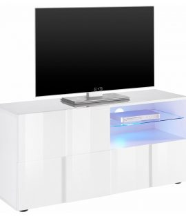 Tv Meubel Dama 121 Cm Breed – Hoogglans Wit