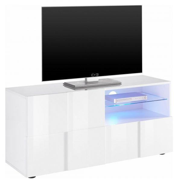 Tv meubel Dama 121 cm breed - Hoogglans wit
