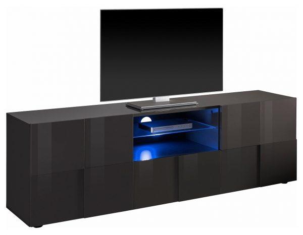 Tv meubel Dama 181 cm breed - Hoogglans grijs