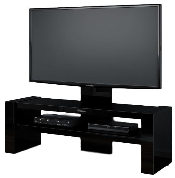 Tv Meubel Davos 138 cm breed - Hoogglans Zwart