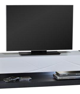 Tv Meubel Elypse 150 Cm Breed – Hoogglans Wit Met Bruin Eiken