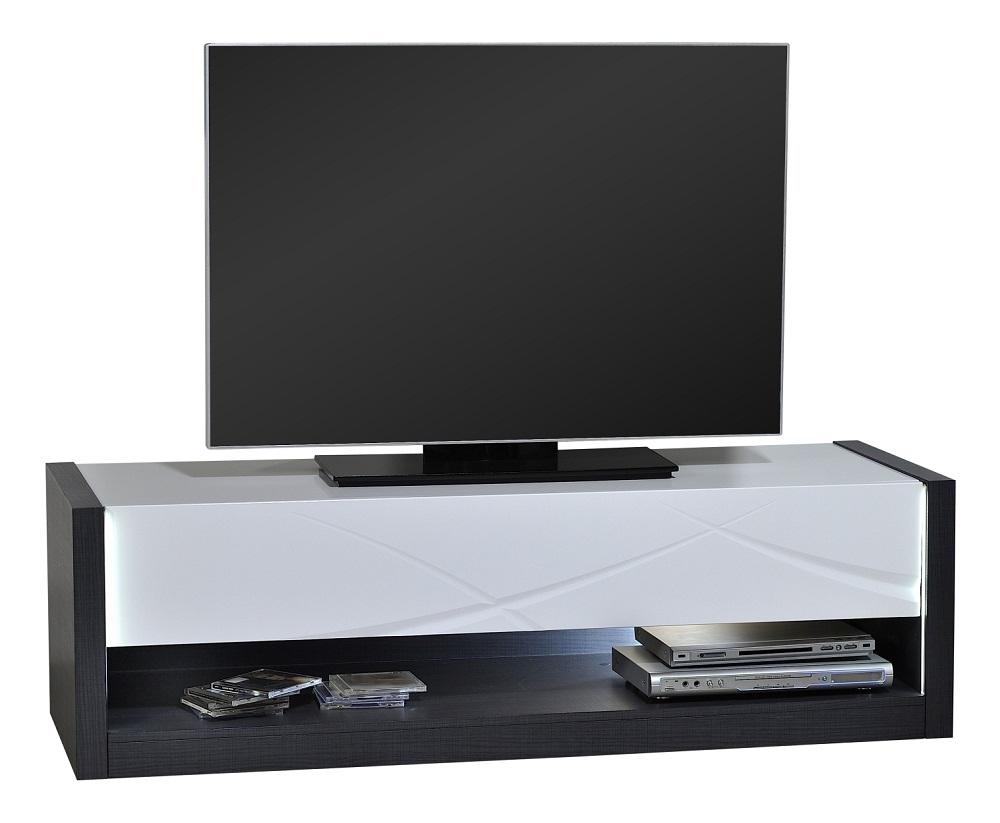 Tv Wandmeubel Bruin.Tv Meubel Elypse 150 Cm Breed Hoogglans Wit Met Bruin Eiken