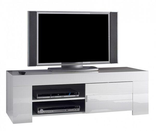 Tv meubel Esso 140 cm lang - Hoogglans wit