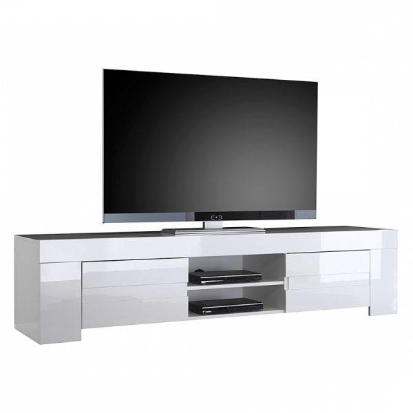 Tv meubel Esso 190 cm lang - Hoogglans wit