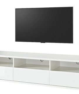 TV Meubel Francis 180 Cm Breed – Mat Wit