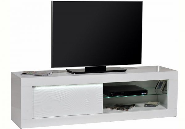 Tv meubel Karma 170 cm breed - Hoogglans wit