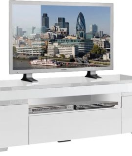 Tv Meubel Ketty White 151 Cm Breed – Hoogglans Wit