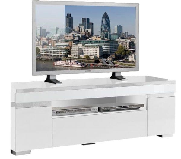 Tv Meubel Ketty White 151 cm breed - Hoogglans Wit