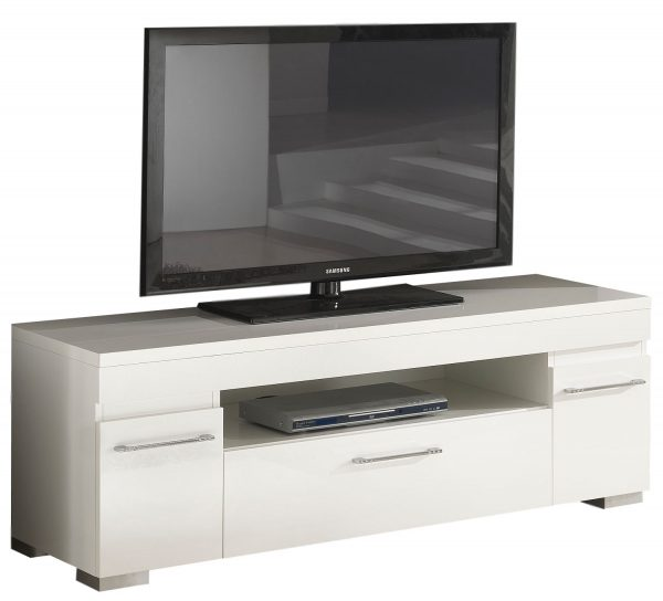 Tv Meubel Kristal White 151 cm breed - Hoogglans Wit