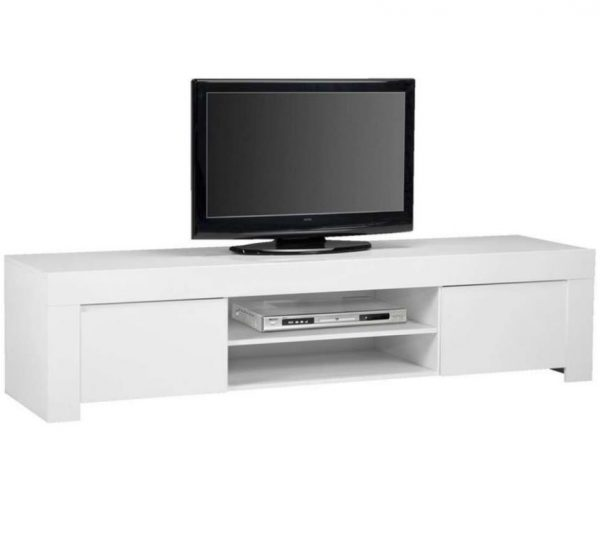 Tv meubel Malifi 190 cm lang - Hoogglans wit