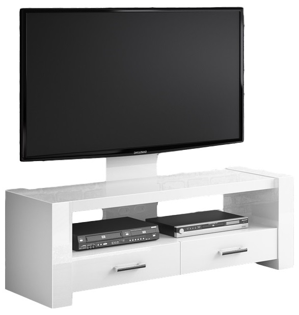 TV Meubel Monaco 138 cm breed - Hoogglans Wit