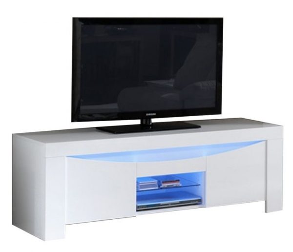 TV Meubel Onda 160 cm breed - Hoogglans Wit