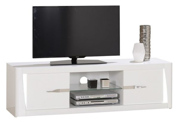 Tv Meubel Orba 160 cm breed - Hoogglans Wit