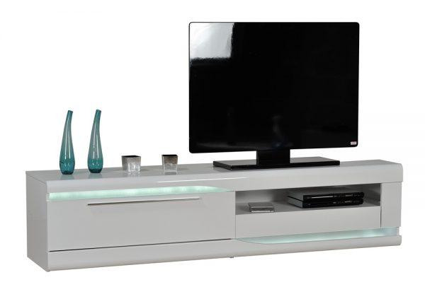 Tv Meubel Ovio 200 cm breed - Hoogglans Wit