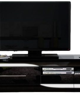 Tv Meubel Ovio 200 Cm Breed – Hoogglans Zwart