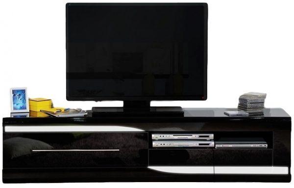 Tv Meubel Ovio 200 cm breed - Hoogglans Zwart