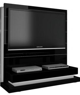 TV Meubel Panorama Lux 136 Cm Breed – Hoogglans Zwart