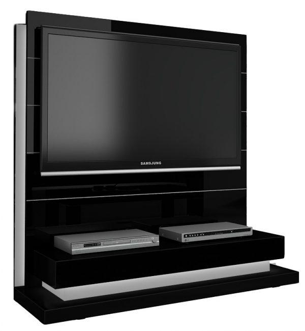 TV Meubel Panorama Lux 136 cm breed - Hoogglans Zwart