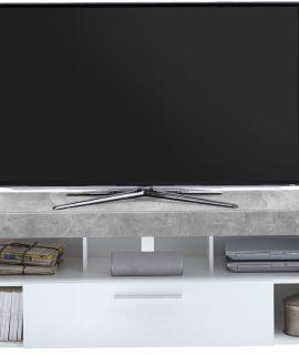 TV Meubel Raymond 150 Cm Breed – Grijs Beton Met Wit