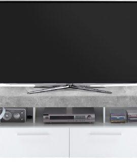 TV Meubel Raymond 180 Cm Breed – Grijs Beton Met Wit