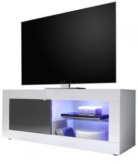 Tv Meubel Tonic 140 Cm – Hoogglans Wit Met Antraciet