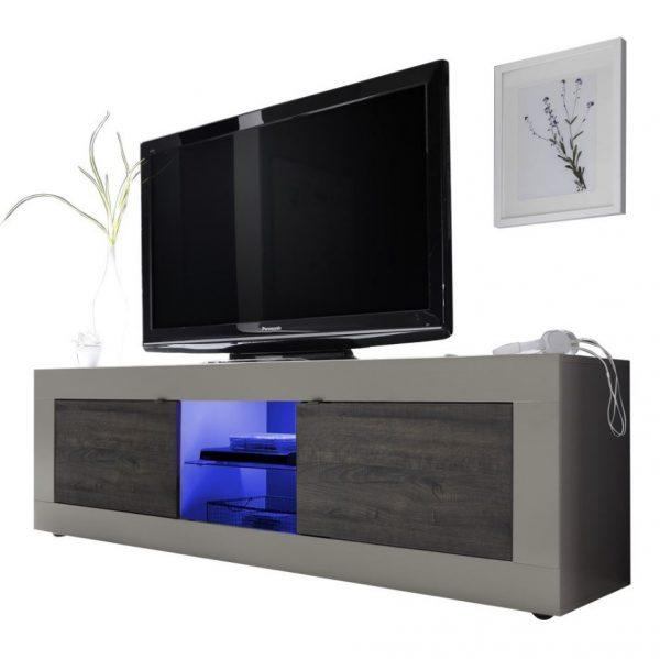 Tv meubel Tonic 181 cm - Mat Beige met wenge
