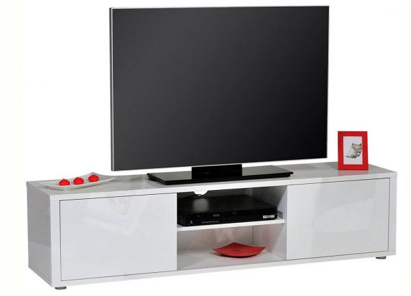 Tv Meubel Umbra 160 cm breed - Hoogglans Wit