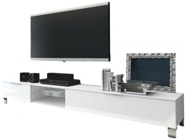Tv Meubel Verona 210 cm breed - Hoogglans wit